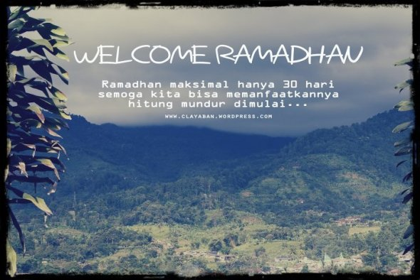 Welcome Ramadhan 1432 H