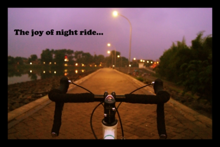 The joy of night ride